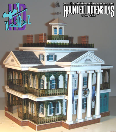 Haunted house paper model