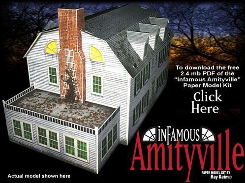 The infamous amityville paper model kit for Model house movie