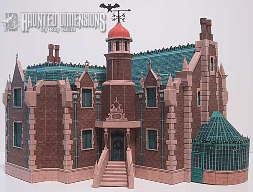 Papercraft imprimible y armable de la Mansión Haunted / Haunted Mansion de Disney. Manualidades a Raudales.